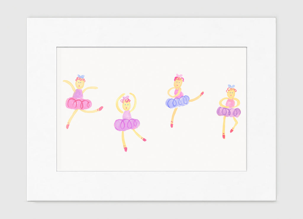 Dancing Ballerinas - Kids Wall Art Collection-Di Lewis