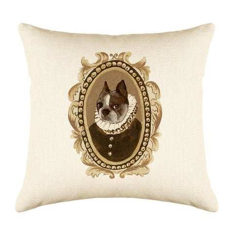 Baron Bulldog Throw Pillow Cover