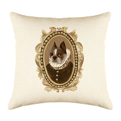 Baron Bulldog Throw Pillow Cover - Dog Illustration Throw Pillow Cover Collection-Di Lewis