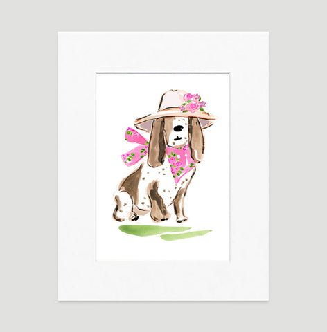 Betsy Bassett Art Print - Dog Illustrations Wall Art Collection-Di Lewis