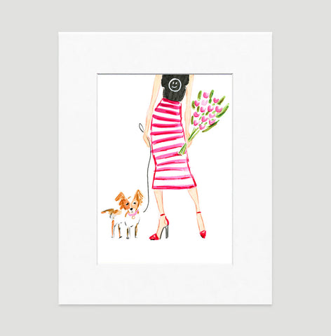 Be Happy Art Print - Fashion Illustration Wall Art Collection-Di Lewis