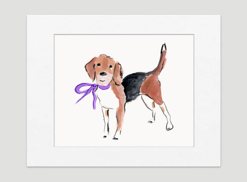 Barney Beagle Art Print - Dog Illustrations Wall Art Collection