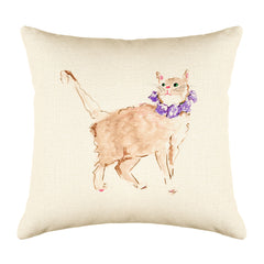 Orange Cat Throw Pillow Cover - Cat Illustration Throw Pillow Cover Collection-Di Lewis