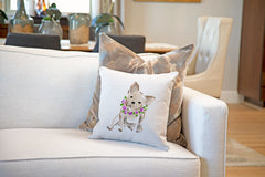 Bertie Bulldog Throw Pillow Cover - Dog Illustration Throw Pillow Cover Collection-Di Lewis