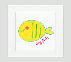 Big Fish Art Print - Kids Wall Art Collection-Di Lewis