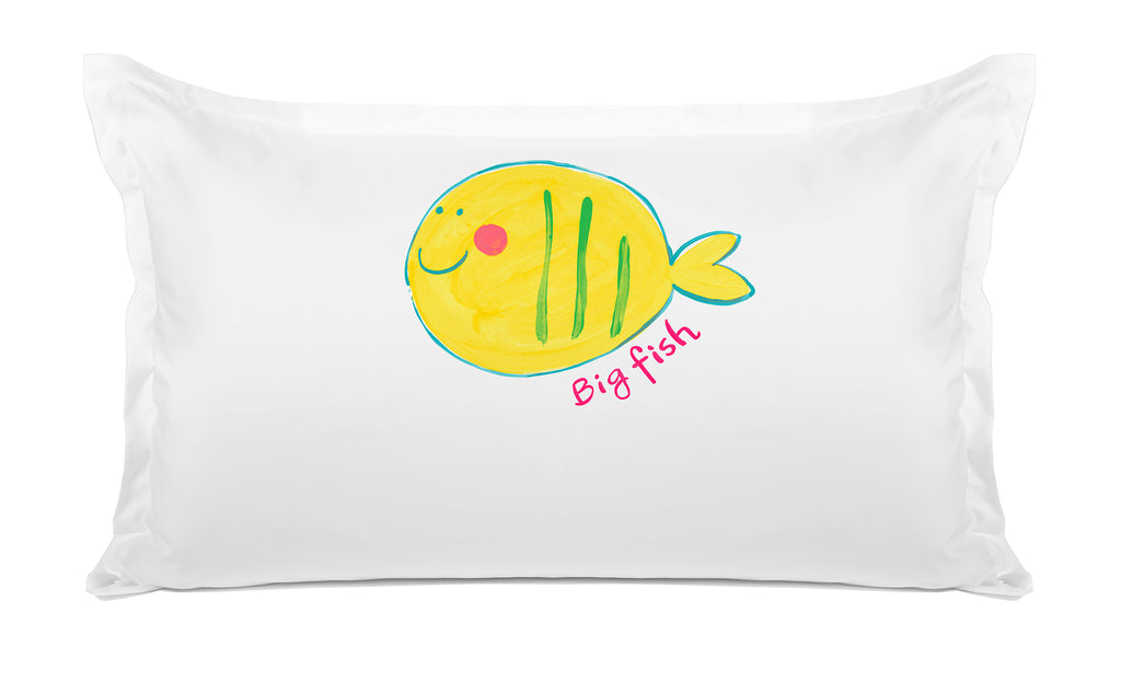 Big Fish Kids Personalized Pillow case Di Lewis Kids Bedding