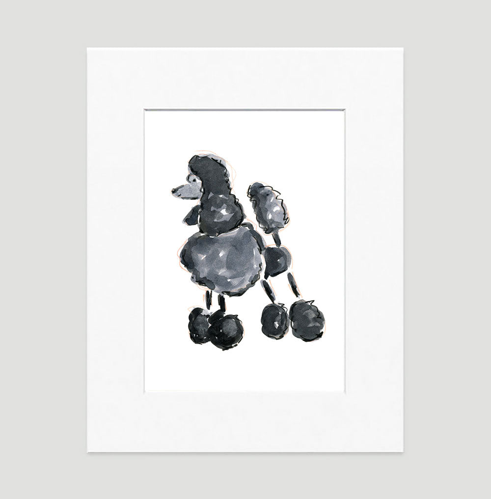 Pixie Poodle Art Print - Dog Illustrations Wall Art Collection-Di Lewis