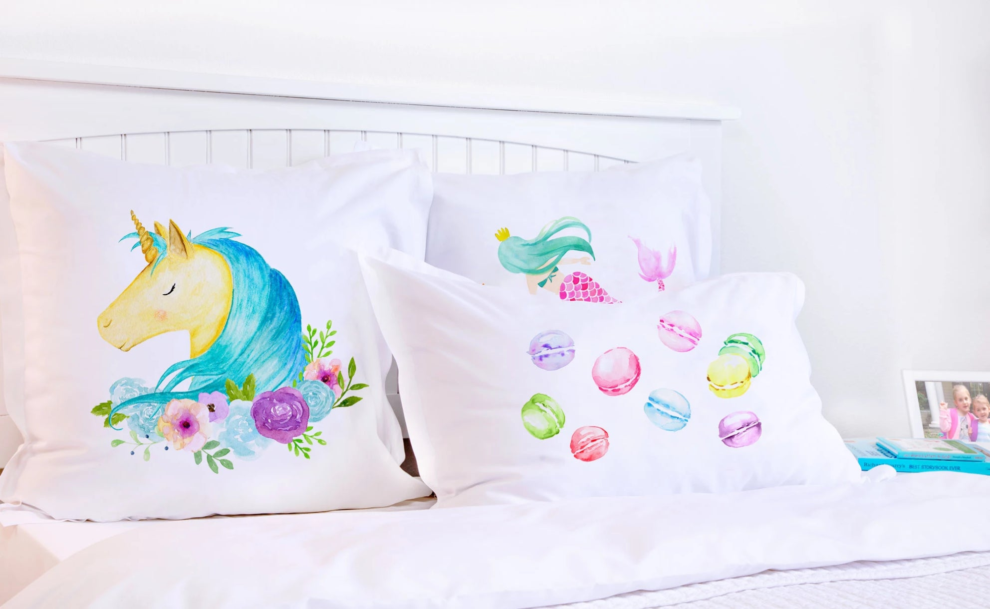 Blue Unicorn - Personalized Kids Pillowcase Collection