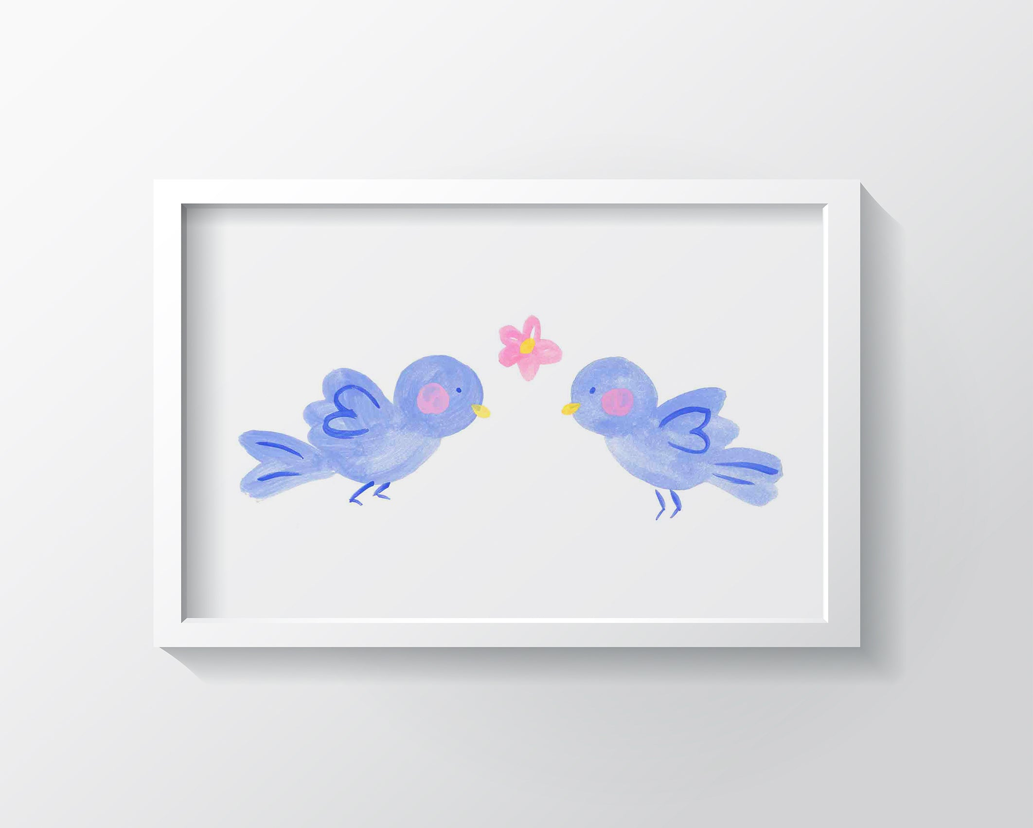 Bluebirds of Happiness Kids Wall Decor Kids Bedroom Decor