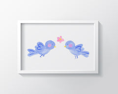 Bluebirds - Kids Wall Art Collection-Di Lewis