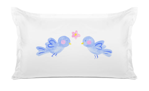 Bluebirds Of Happiness - Personalized Kids Pillowcase Collection-Di Lewis