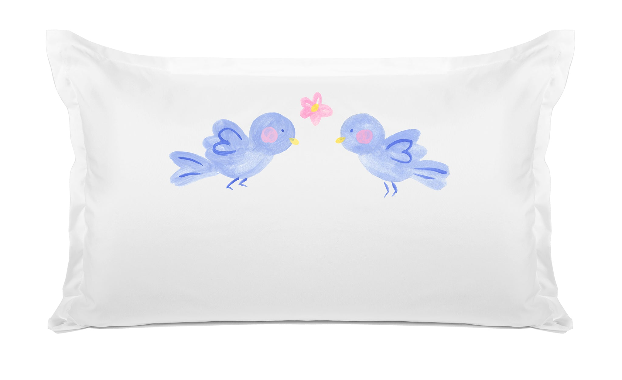 Bluebirds of Happiness Kids Personalized Pillow Di Lewis Kids Bedding