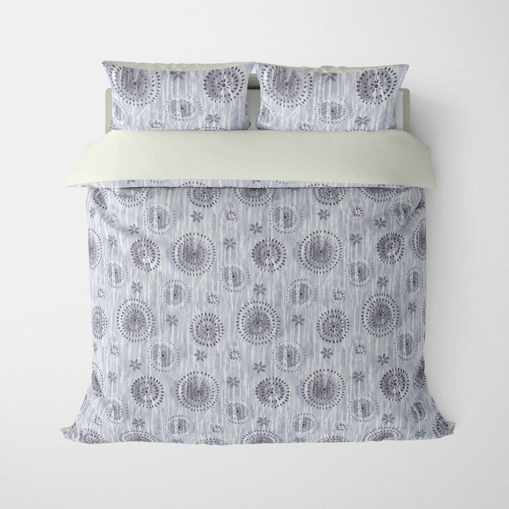 ABSTRACT DUVET COVERS & BEDDING SETS - BOCA SMOKE GREY - GEOMETRIC DESIGN - HYPOALLERGENIC