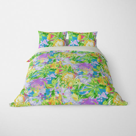 TROPICAL  DUVET COVERS & BEDDING SETS - BORA BORA LEAF  - TROPICAL LEAVES  - HYPOALLERGENIC