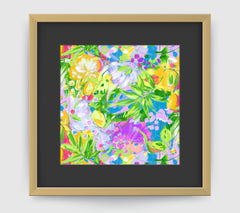 Bora Bora Leaf Art Print - Impressionist Art Wall Decor Collection