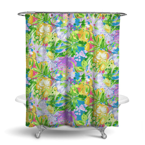 BORA BORA TROPICAL SHOWER CURTAIN LEAF – SHOWER CURTAIN COLLECTION