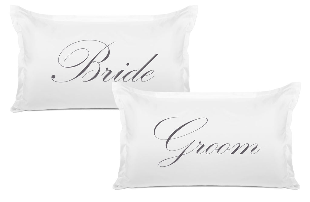 Bride, Groom - His & Hers Pillowcase Collection-Di Lewis