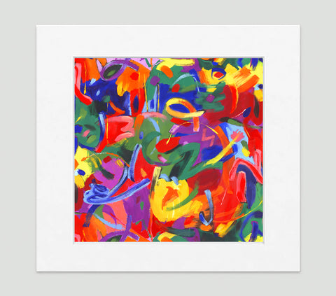 Brushstroke Art Print - Abstract Art Wall Decor Collection-Di Lewis