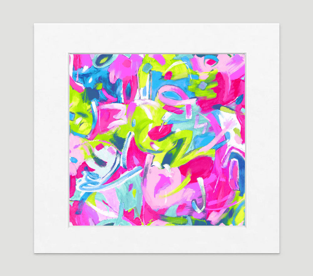 Brushstroke Pastel Art Print - Abstract Art Wall Decor Collection