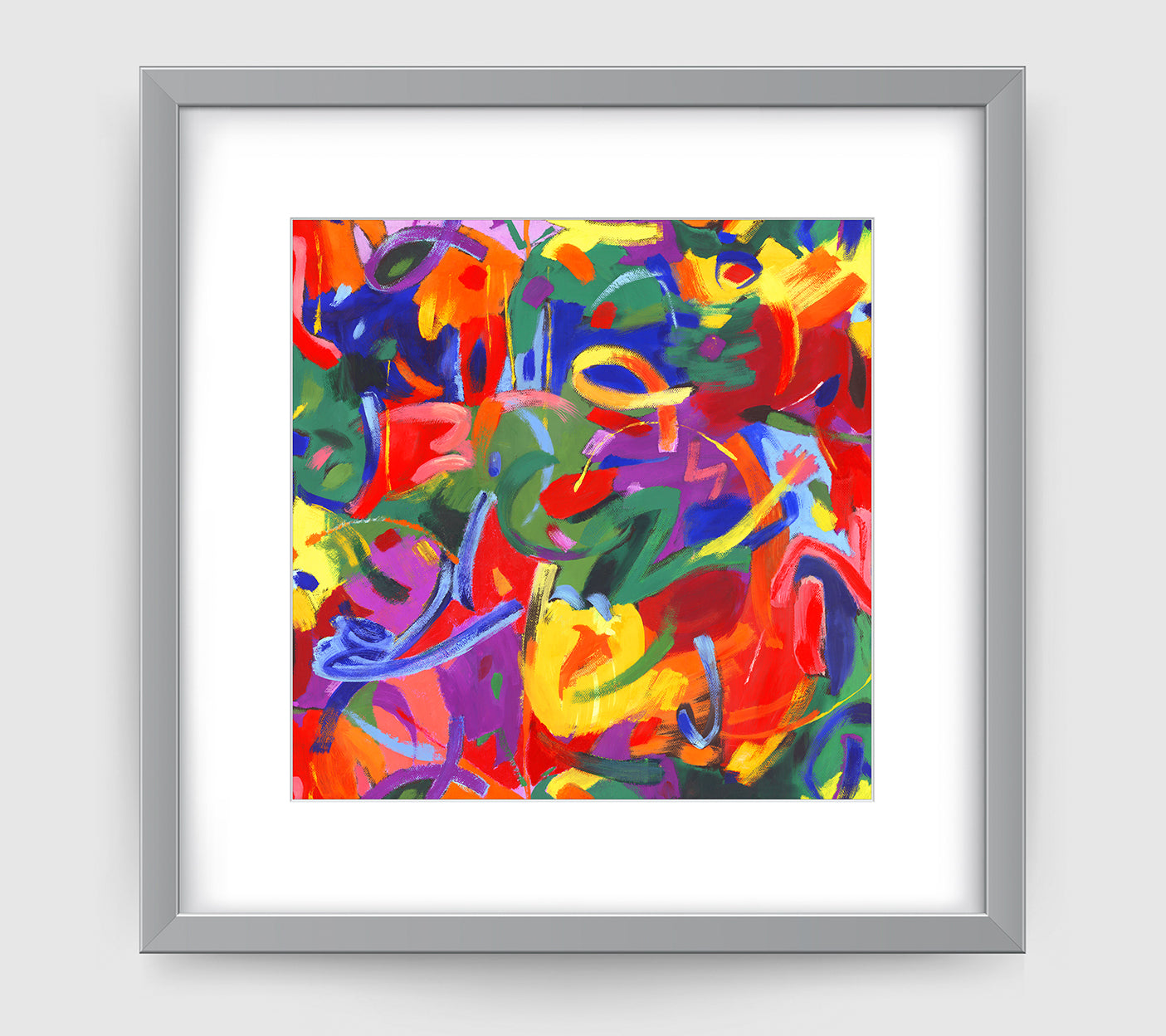 Brushstroke Abstract Art Print Di Lewis Living Room Wall Decor
