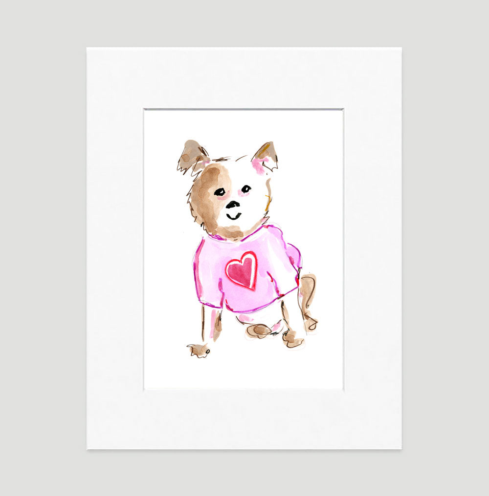 Baxter Bulldog Art Print - Dog Illustrations Wall Art Collection-Di Lewis