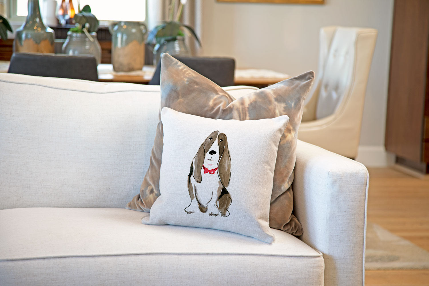 Buster Bassett Throw Pillow Cover