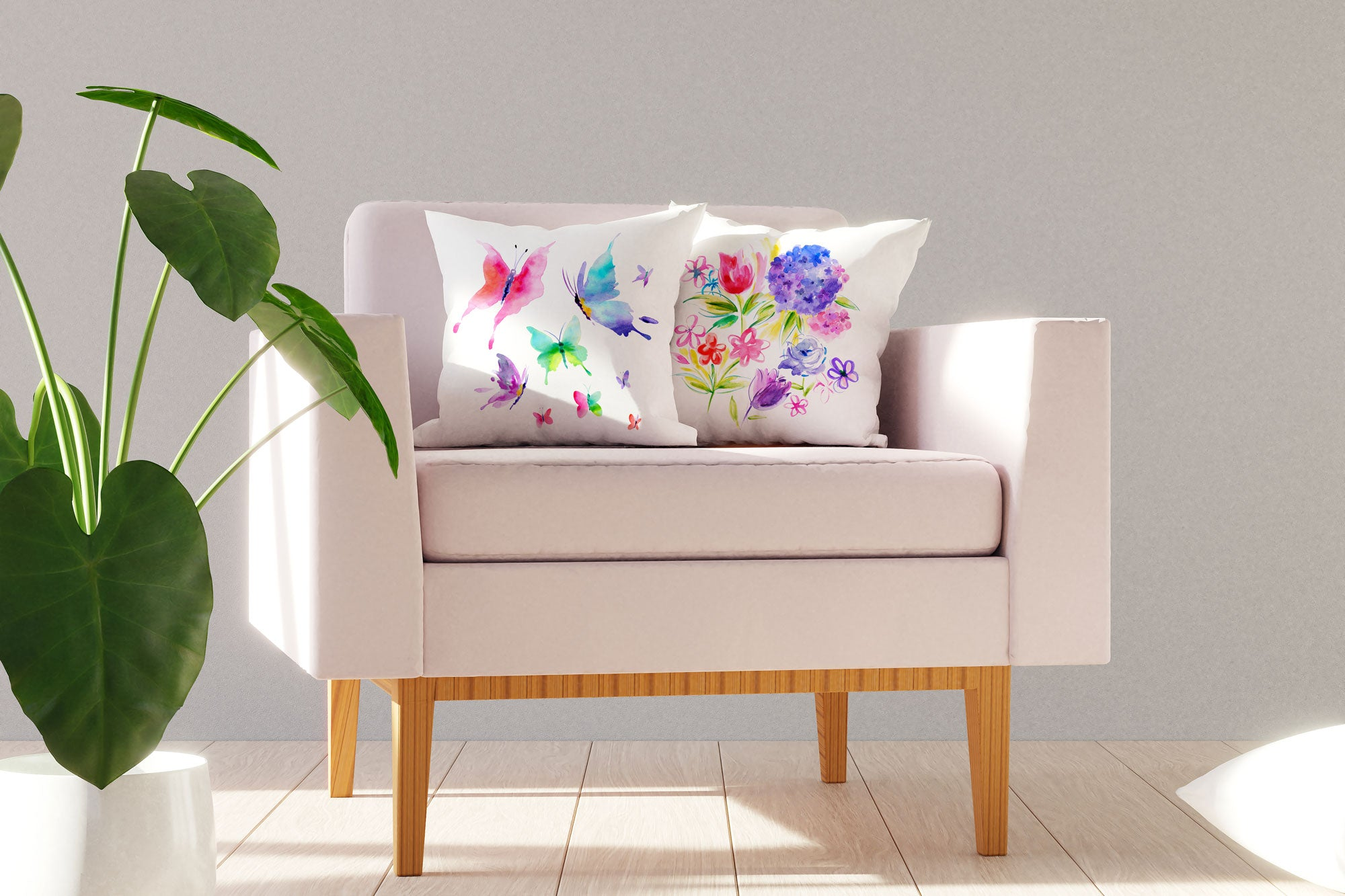 Butterfly Throw Pillow Cover - Decorative Designs Throw Pillow Cover Collection