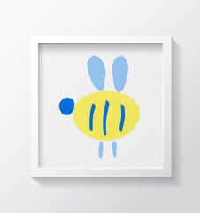 Buzzy Bee (Pink) Art Print - Kids Wall Art Collection-Di Lewis