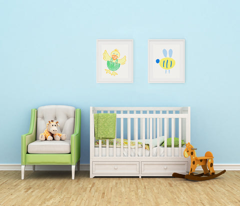 Buzzy Bee Yellow Kids Wall Decor Di Lewis Kids Bedroom Decor