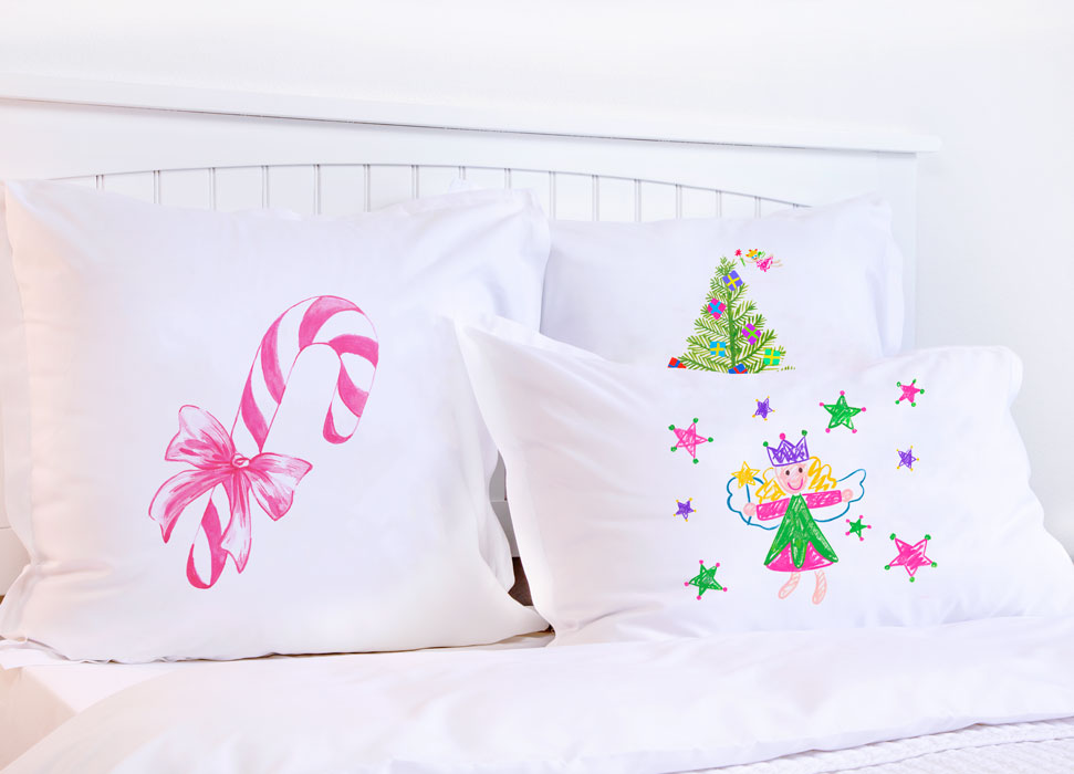 Candy Canes - Kids Personalized Pillowcase Collection