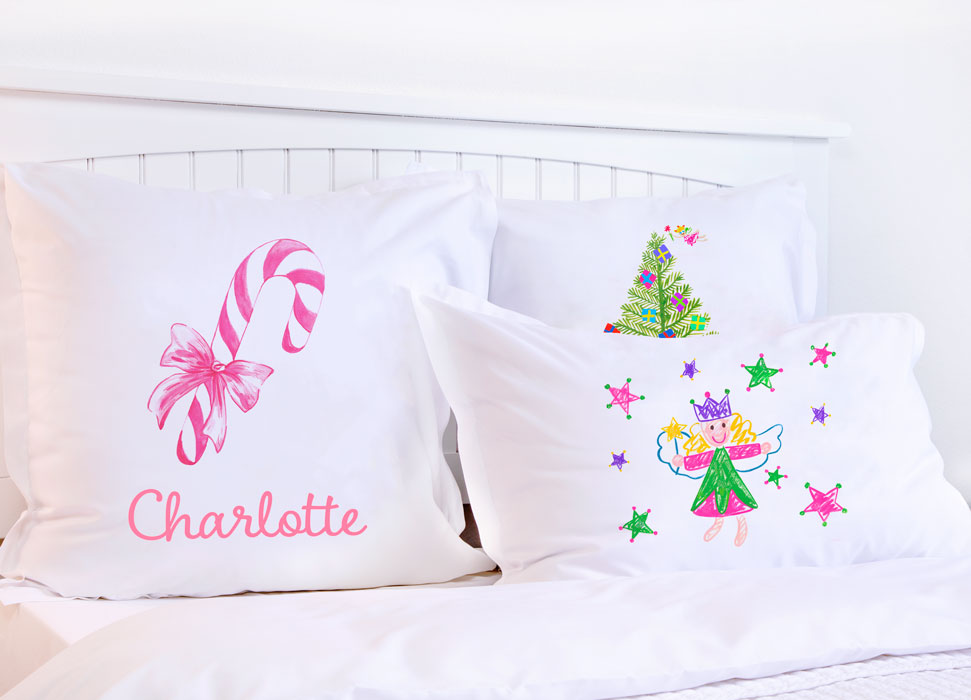 Christmas Candy Canes - Kids Personalized Pillowcase Collection