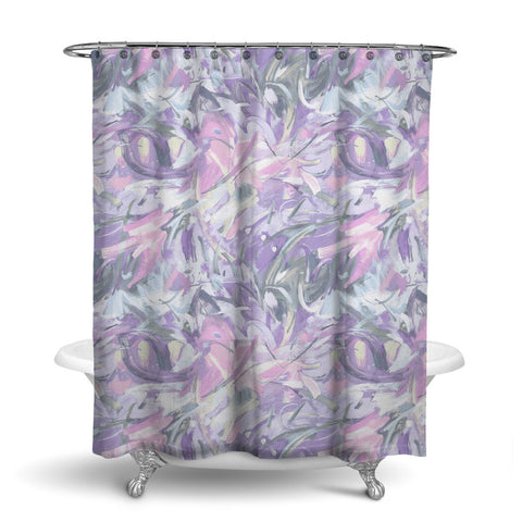 CARNIVALE - ABSTRACT SHOWER CURTAIN - LAVENDER - CONTEMPORARY DESIGN