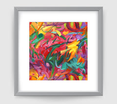 Carnivale Abstract Art Print Di Lewis Living Room Wall Decor