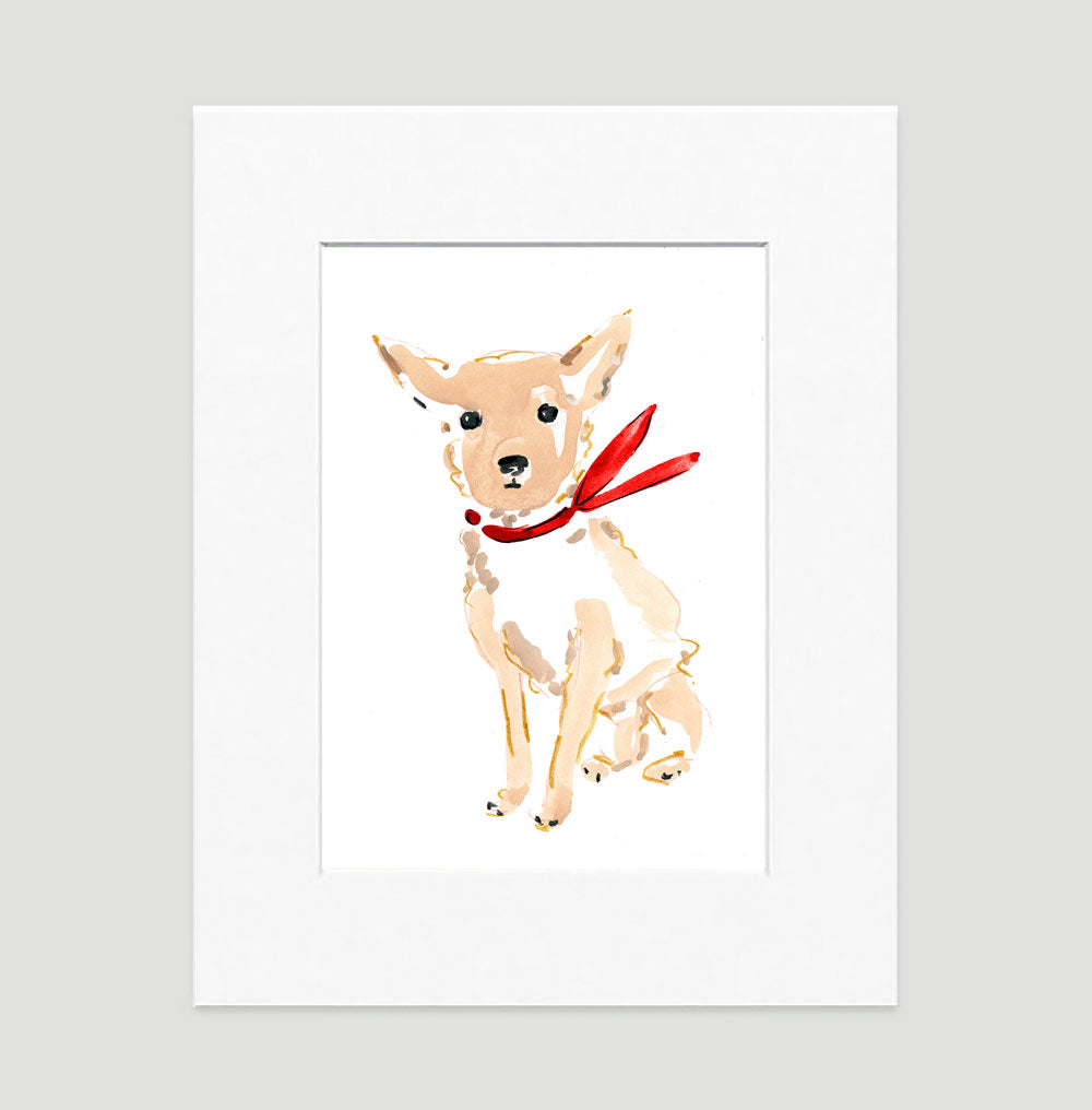 Caesar Chihuahua Art Print - Dog Illustrations Wall Art Collection-Di Lewis