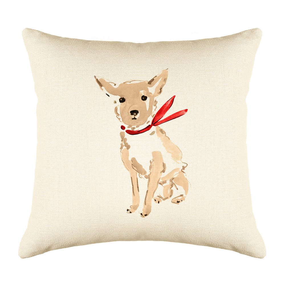 Caesar Chihuahua Throw Pillow Cover - Dog Illustration Throw Pillow Cover Collection-Di Lewis