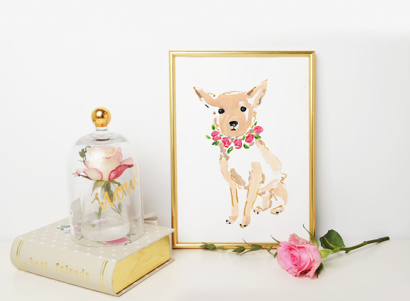 Coco Chihuahua Art Print - Dog Illustrations Wall Art Collection-Di Lewis