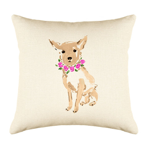 Coco Chihuahua Throw Pillow Cover - Dog Illustration Throw Pillow Cover Collection-Di Lewis