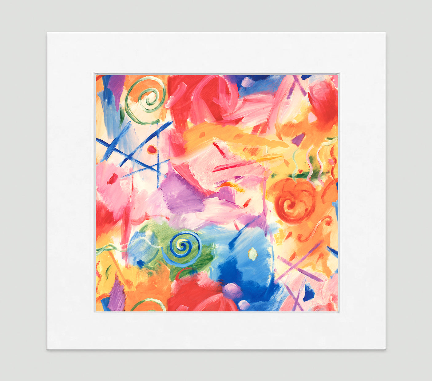 Cirque Abstract Art Print Di Lewis Living Room Wall Decor