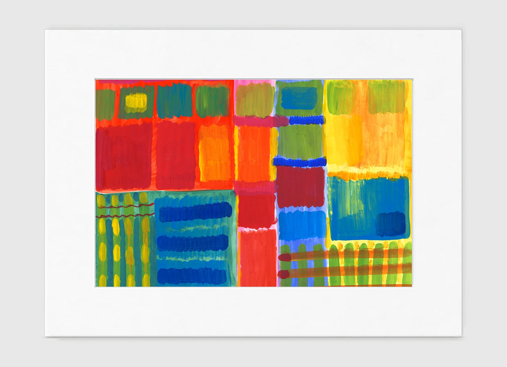 City Block Abstract Art Print Di Lewis Living Room Wall Decor