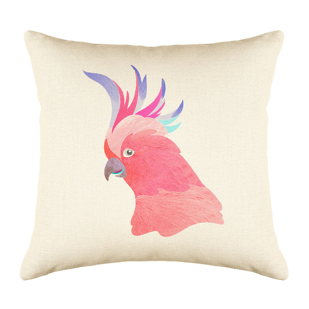 Cockatoo Throw Pillow Cover - Coastal Designs Throw Pillow Cover Collection-Di Lewis
