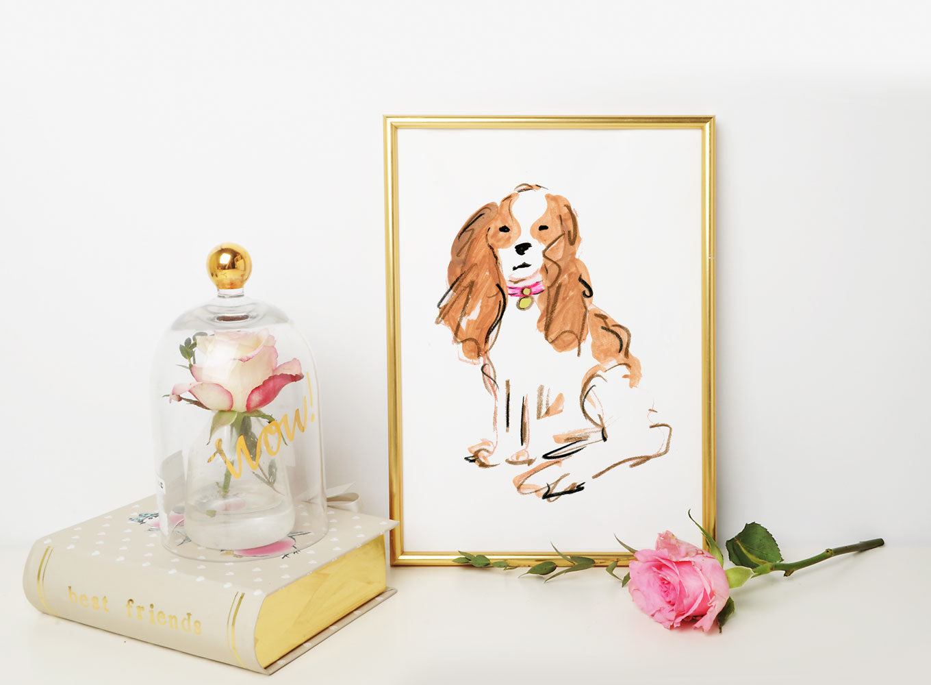Sparky Spaniel Art Print - Dog Illustrations Wall Art Collection
