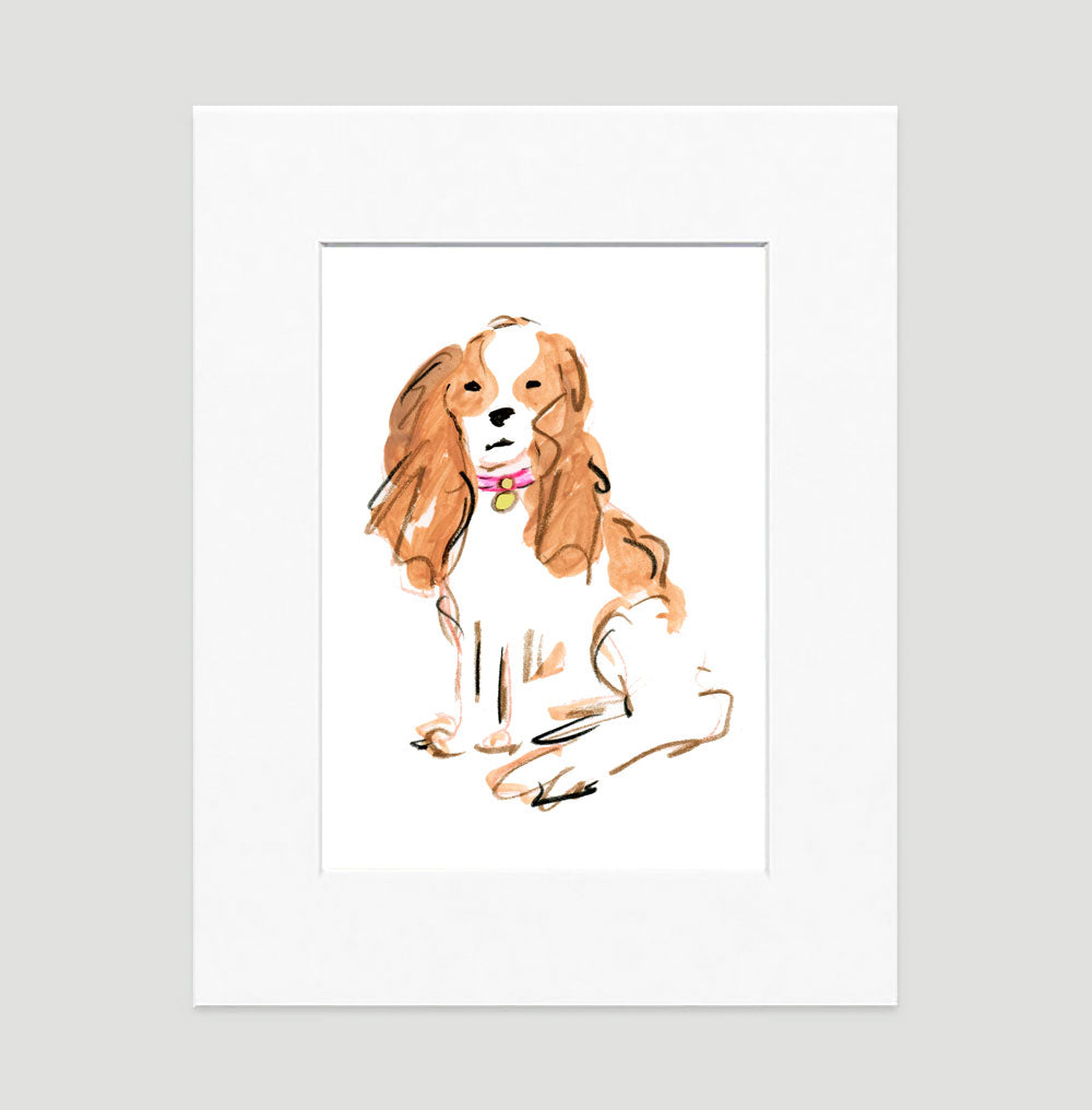 Sparky Spaniel Art Print - Dog Illustrations Wall Art Collection-Di Lewis