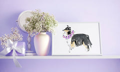 Cleo Collie Art Print - Dog Illustrations Wall Art Collection-Di Lewis