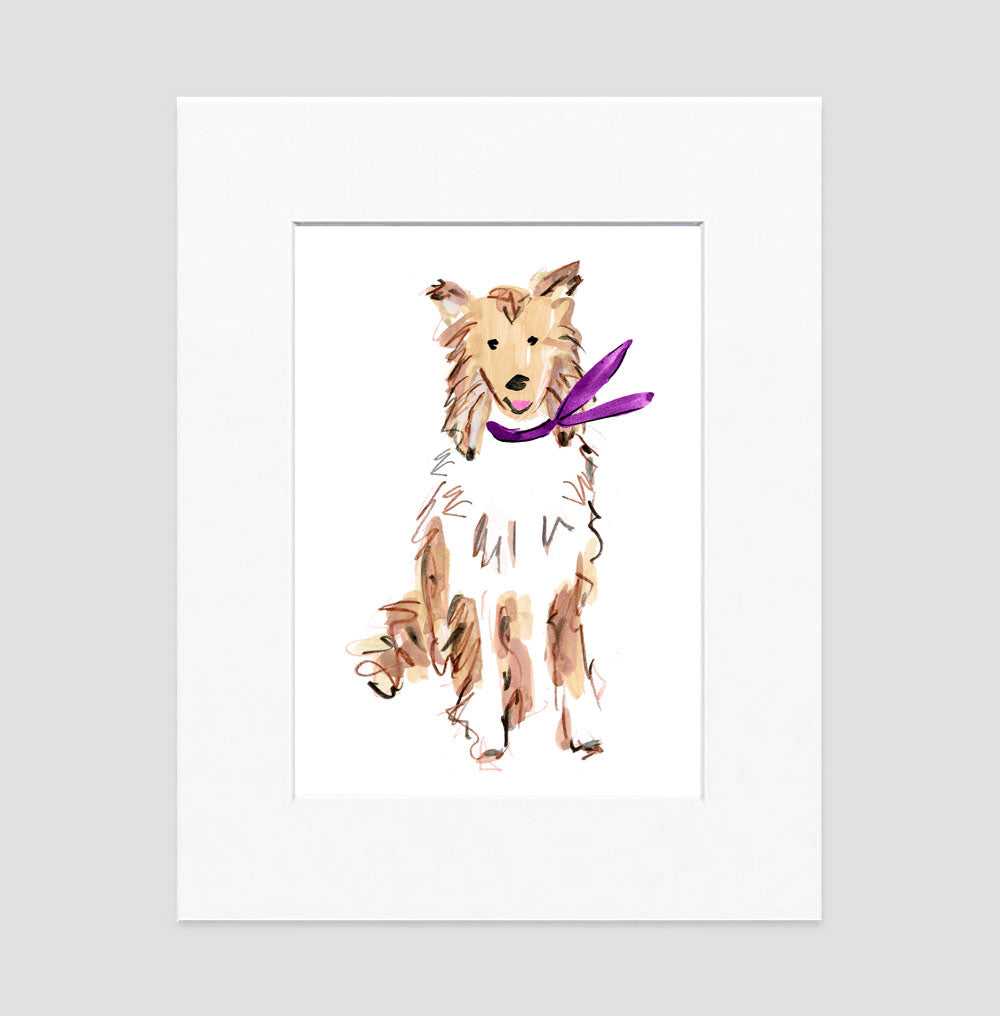 Conrad Collie Art Print - Dog Illustrations Wall Art Collection-Di Lewis
