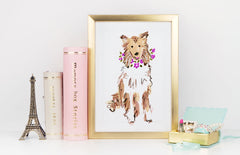 Coco Collie Art Print