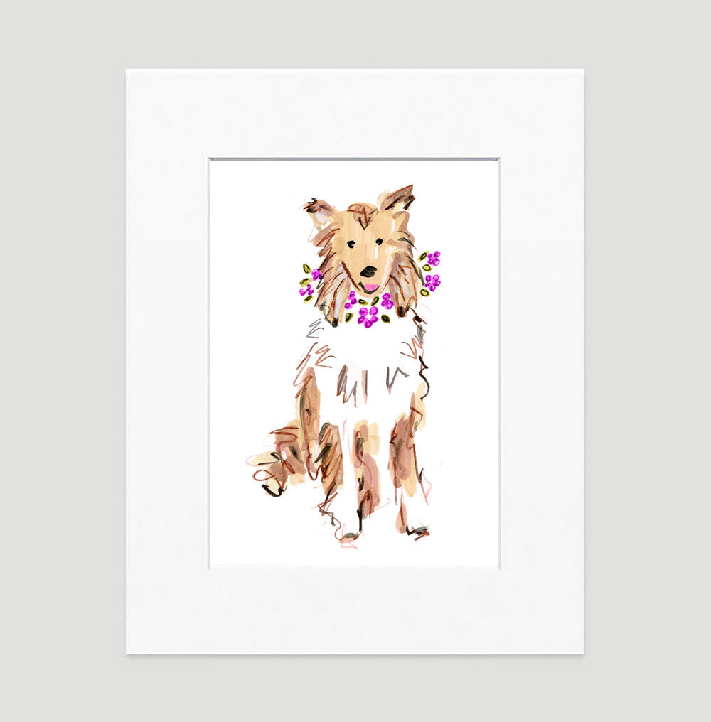 Coco Collie Art Print - Dog Illustrations Wall Art Collection