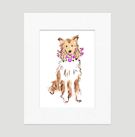 Coco Collie Art Print - Dog Illustrations Wall Art Collection-Di Lewis