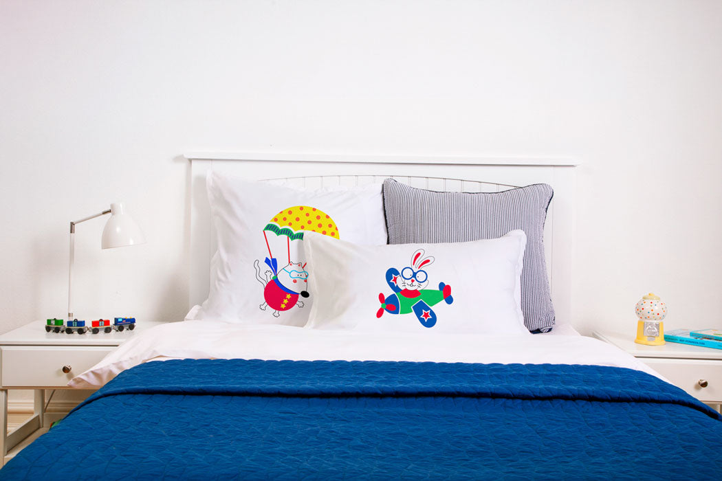 Come Fly With Me - Personalized Kids Pillowcase Collection-Di Lewis