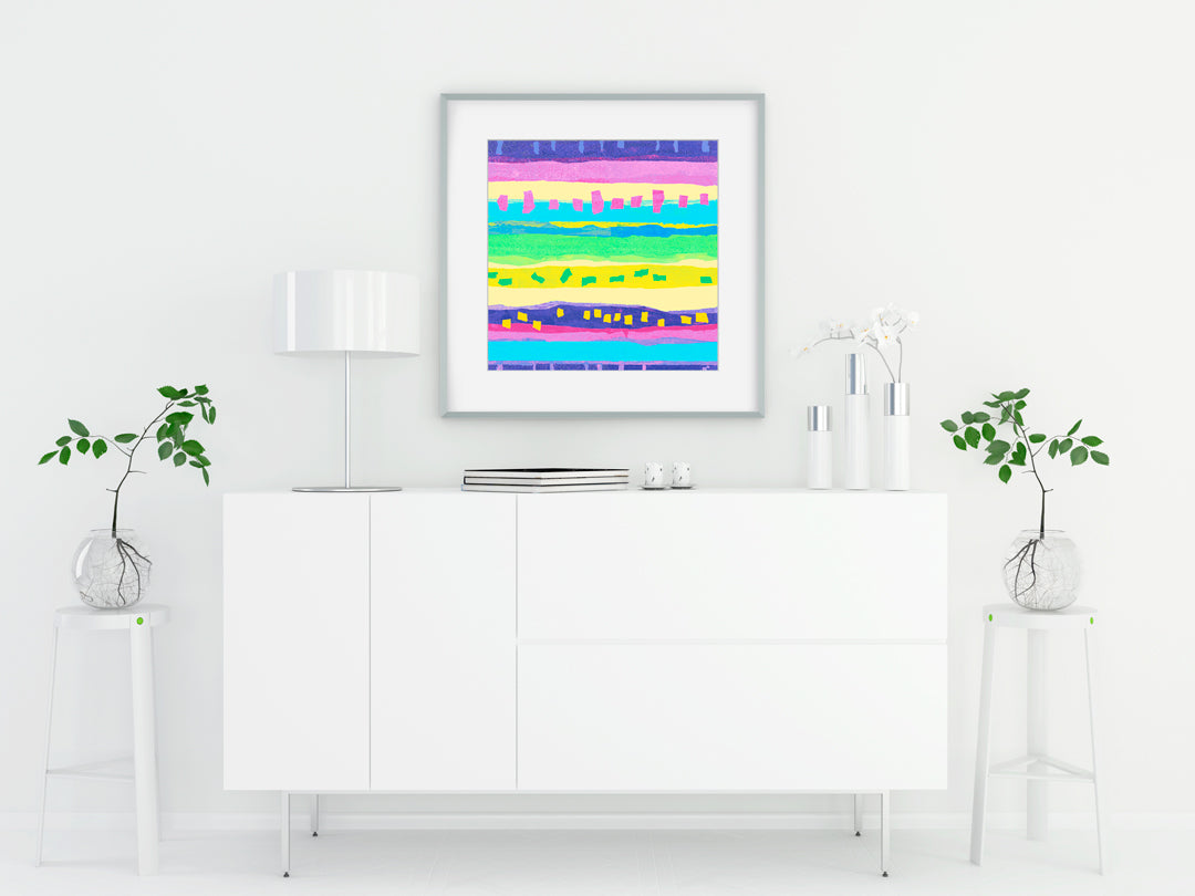 Confetti Multi Art Print - Abstract Art Wall Decor Collection