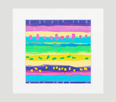 Confetti Multi Abstract Art Print Di Lewis Living Room Wall Decor